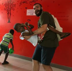 Lorenzo, partecipante al Campus in Haiti